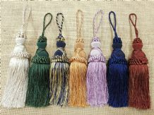 Decorative Duchy Key Tassel Curtain Cushion Tassle 15cm +9cm loop Tasell Tassell